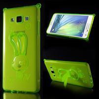 Zelený gelový obal s nastavitelným stojánkem na Samsung Galaxy A5
