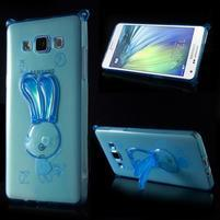 Modrý gelový obal s nastavitelným stojánkem na Samsung Galaxy A5