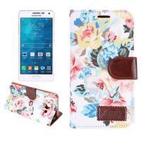 Květinové peněženkové pouzdro na Samsung Galaxy A5 - bílé