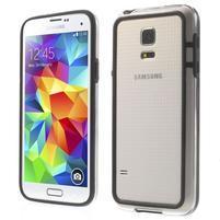 Černý gelový kryt s plastovými lemy na Samsung Galaxy S5 mini