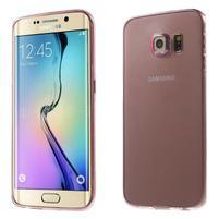 Ultra tenký gelový obal na Samsung Galaxy S6 Edge - rose