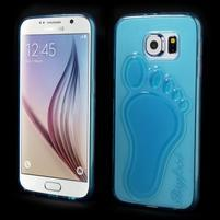 Protiskluzový gelový kryt na Samsung Galaxy S6 - modrý