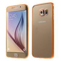 Oranžový hybridní gelový obal na Samsung Galaxy S6 Edge