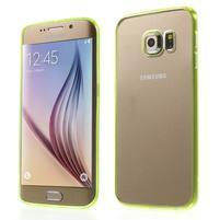 Světle žlutý hybridní gelový obal na Samsung Galaxy S6 Edge