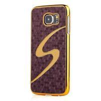 Elegantní plastový kryt na Samung Galaxy S6 - fialový