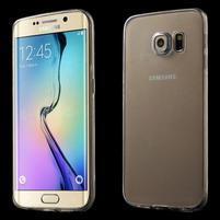 Ultra tenký gelový obal na Samsung Galaxy S6 Edge - tranparentní