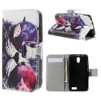 Styles peněženkové pouzdro na mobil Lenovo A319 - kocour