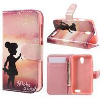 Styles peněženkové pouzdro na mobil Lenovo A319 - holčička