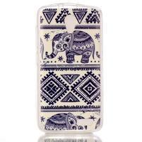 Softy gelový obal na mobil Lenovo A319 - sloni