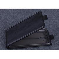 PU kožené flipové pouzdro na Lenovo A536 - černé