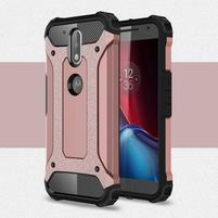 Armory odolný obal na mobil Lenovo G4 Plus a G4 - růžovozlatý