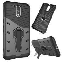 Defender odolný obal na mobil Lenovo Moto G4 a G4 Plus - šedý