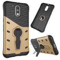 Defender odolný obal na mobil Lenovo Moto G4 a G4 Plus - zlatý