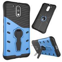 Defender odolný obal na mobil Lenovo Moto G4 a G4 Plus - modrý