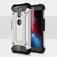 Armory odolný obal na mobil Lenovo G4 Plus a G4 - stříbrný