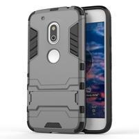 Hybridní odolný obal na mobil Lenovo Moto G4 Play - šedý