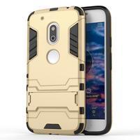 Hybridní odolný obal na mobil Lenovo Moto G4 Play - zlatý