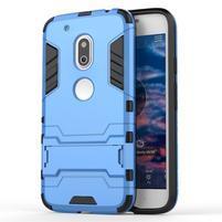 Hybridní odolný obal na mobil Lenovo Moto G4 Play - světlemodrý