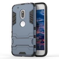 Hybridní odolný obal na mobil Lenovo Moto G4 Play - šedomodrý