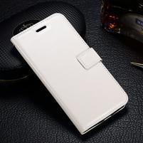 LuxSt PU kožené pouzdro na Lenovo Moto G4 Play - bílé