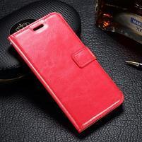 LuxSt PU kožené pouzdro na Lenovo Moto G4 Play - červené