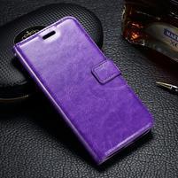 LuxSt PU kožené pouzdro na Lenovo Moto G4 Play - fialové