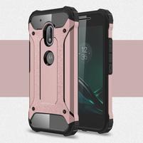 Armory odolný obal na mobil Lenovo Moto G4 Play - růžovozlatý