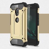 Armory odolný obal na mobil Lenovo Moto G4 Play - zlatý