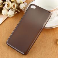 Matný gelový obal na mobil Lenovo S60 - černý