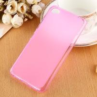 Matný gelový obal na mobil Lenovo S60 - růžový
