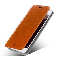 Moof PU kožené pouzdro na mobil Lenovo S90 - hnědé