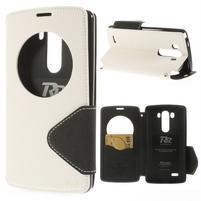 Diary pouzdro s okýnkem na mobil LG G3 - bílé