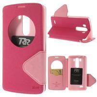 Diary pouzdro s okýnkem na mobil LG G3 - rose