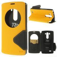 Diary pouzdro s okýnkem na mobil LG G3 - žluté