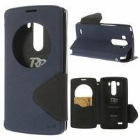 Diary pouzdro s okýnkem na mobil LG G3 - tmavěmodré