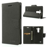 Goos peněženkové pouzdro na LG G3 - černé