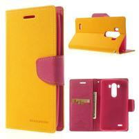 Goos peněženkové pouzdro na LG G3 - žluté