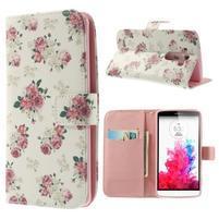 Ultra motive peněženkové pouzdro na LG G3 - květiny