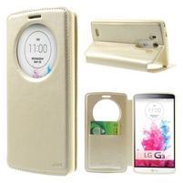 Roar peněženkové pouzdro s okýnkem na LG G3 - zlaté