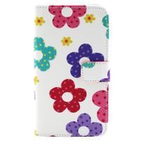 Obrázkové koženkové pouzdro na mobil LG G3 - malované květiny