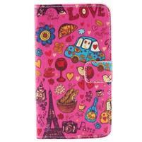 Obrázkové koženkové pouzdro na mobil LG G3 - symboly Paříže