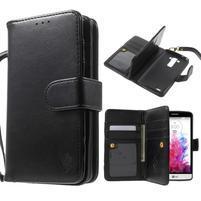 Patrové peněženkové pouzdro na mobil LG G3 - černé