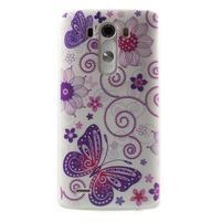 Silks gelový obal na mobil LG G3 - motýlci