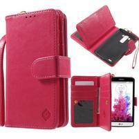 Patrové peněženkové pouzdro na mobil LG G3 - rose