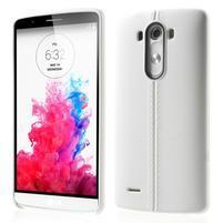 Lines gelový kryt na mobil LG G3 - bílý