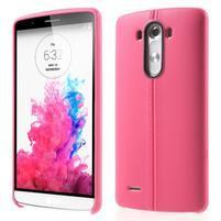 Lines gelový kryt na mobil LG G3 - rose