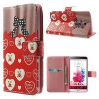 Obrázkové pouzdro na mobil LG G3 - zamilovaný medvídek