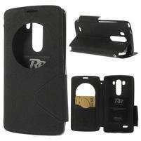 Diary pouzdro s okýnkem na mobil LG G3 - černé