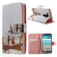 Zapínací peněženkové pouzdro pro LG G3 s - láska