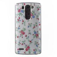 Gelový obal na LG G3 s - kytičky